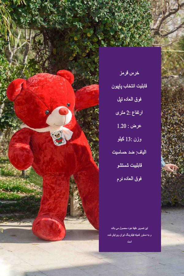 خرس قرمز رنگ بامزه