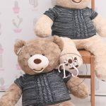 خرس-بامزه-کرم-رنگ-لباس-دار