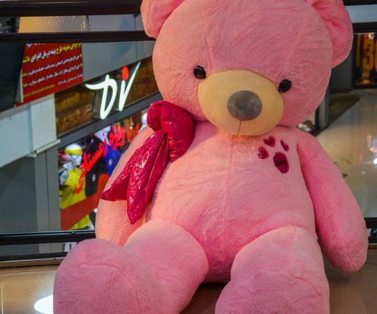 خرس 2 متری صورتی